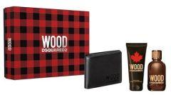 Dsquared2 Wood For Him EDT (100mL) + SG (100mL) + Black Wallet