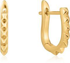 Ania Haie Gold Spike Huggie Hoop Earrings
