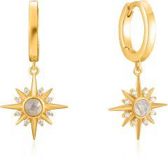 Ania Haie Gold Midnight Star Huggie Hoop Earrings