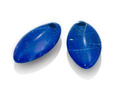 Sparkling Jewels Ear Charms Lapis Lazuli Polished Gemstones
