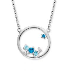 Engelsrufer Necklace Cosmo Silver with Zirconia Multicolor