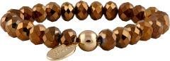 Buckley London Sparkle Glass Bead & Ccb Bracelet Gold FBT836
