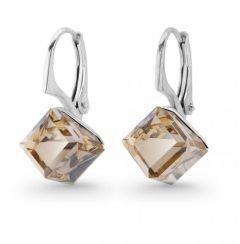Spark Silver Jewelry Earrings Cube Golden Shadow