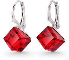 Spark Silver Jewelry Earrings Cube Light Siam