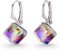 Spark Silver Jewelry Earrings Cube Vitrail Medium
