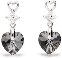 Spark Silver Jewelry Earrings Petite Heart Silver Night