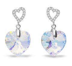 Spark Silver Jewelry Earrings Tender Heart Aurore Boreale