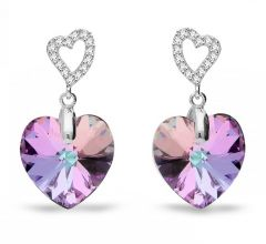 Spark Silver Jewelry Earrings Tender Heart Vitrail Light