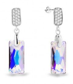 Spark Silver Jewelry Earrings Baguette Aurore Boreale