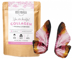 Boost Yourself Collagen and KUMA Wings of Power Earrings