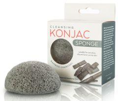 Active Line Beauty Konjac Sponge with Bamboo Charcoal