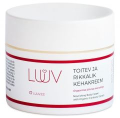 Luuv Nourishing and Moisturizing Body Cream with Organic Cranberry Extract (200mL)