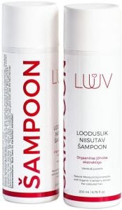 Luuv Natural Moisturizing Shampoo with Organic Cranberry extract for Coloured Hair (200mL)