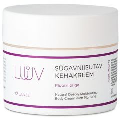 Luuv Deeply Moisturizing Body Cream with Plum Oil (200mL)