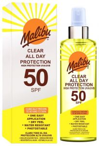 Malibu Clear All Day Protection SPF50 (250mL) Waterproof