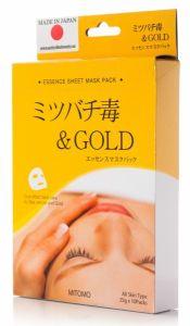 Mitomo Bee Venom & Gold Essence Mask Box (10pcs)