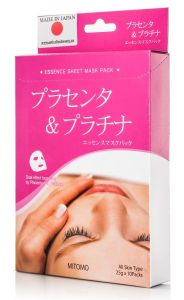 Mitomo Placenta & Platinum Essence Mask Box (10pcs)