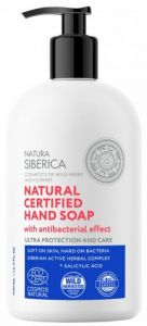 Natura Siberica Natural Certified Hand Soap With Antibacterial Effect Ultra Protection And Care (500mL)