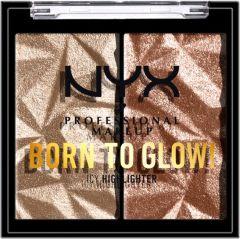NYX Professional Makeup Born To Glow Icy Highlighter Duo (2,1g) Platinum Status