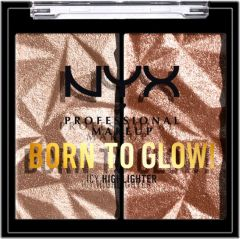 NYX Professional Makeup Born To Glow Icy Highlighter Duo (2,1g) High Key Flex