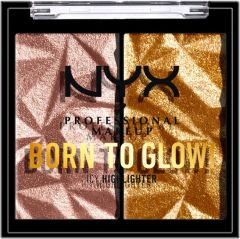 NYX Professional Makeup Born To Glow Icy Highlighter Duo (2,1g) Rock Candy