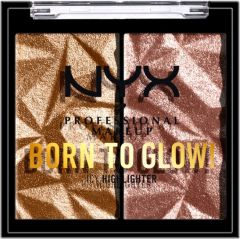 NYX Professional Makeup Born To Glow Icy Highlighter Duo (2,1g) Bout The Bronze