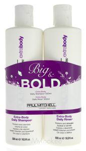 Paul Mitchell Extra Body Shampoo (500mL) + Extra Body Daily Rinse (500mL) Komplekt