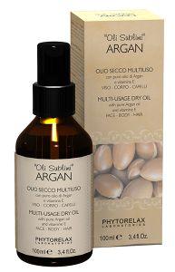 Phytorelax Argan Multi Usage Dry Oil for Face, Body, Hair (100mL)