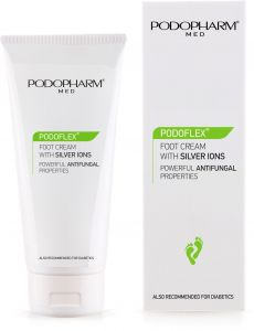 Podopharm Podoflex Foot Cream with Silver Ions Powerful Antifungal Properties (75mL)