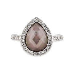Buckley London Brown Shell Pear Ring R482S
