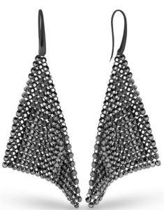 Spark Earrings Chic Jet Hematite