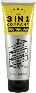 The 3in1 Company Shampoo, Body Wash, Shaving Gel (250mL)