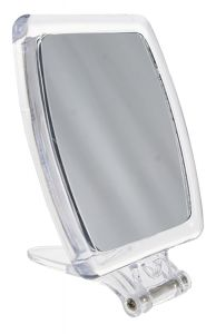 Casuelle Hand-/Standing Mirror in Clear Acrylic, Normal +5X Magnifying