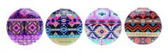 Casuelle Round Compact Mirror, Indian Style