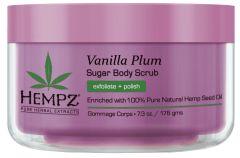 Hempz Vanilla Plum Herbal Sugar Body Scrub (215mL)