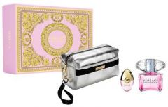 Versace Bright Crystal EDT (90mL) + EDT (10mL) + Cosmetic Bag