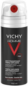 Vichy Homme 72h Triple Diffusion Deospray (150mL)