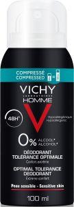 Vichy Homme Optimal Tolerance 48H Deodorant (100mL)
