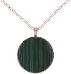 Bronzallure Malachite Big Disc Necklace Malachite