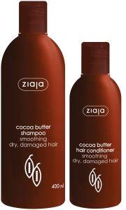 Ziaja Cocoa Butter Shampoo (400mL) + Cocoa Butter Hair Conditioner (200mL)
