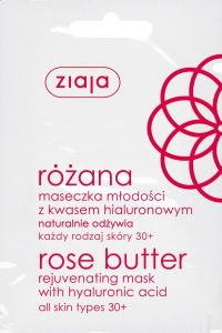 Ziaja Rose Butter Rejuvenating Mask With Hyaluronic Acid, All Skin Types 30+ (7mL)